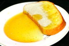 Pan y miel Fotografía de archivo