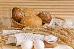 Pan y productos Foto de archivo libre de regalías