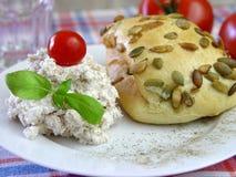 Pan y queso Foto de archivo