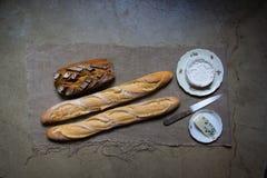 Pan y queso Imagen de archivo libre de regalías