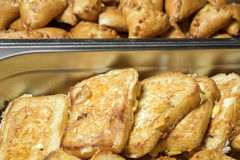 Pan y rebanada de la tostada Fotos de archivo libres de regalías