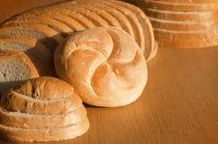 Pan y rodillo Foto de archivo libre de regalías