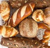 Pan y rollos clasificados Foto de archivo