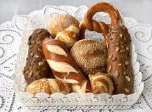 Pan y rollos clasificados Fotografía de archivo