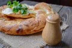 Pan y sal Foto de archivo