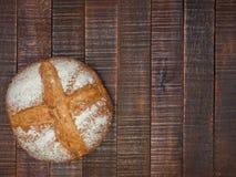 Pan y sal calientes foto de archivo