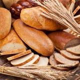 Pan y trigo Fondo del alimento imagen de archivo libre de regalías