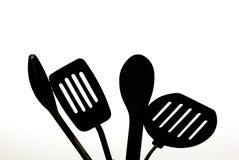 Pan y utensilios Fotos de archivo