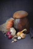 Pan, y verduras Fotografía de archivo