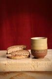Pan y vino Foto de archivo libre de regalías