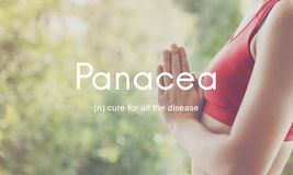 Panacea Cure Diseases Health People Graphic Concept Royalty Free Stock Image
