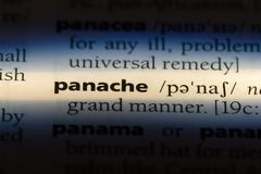 Panache. Word in a dictionary.  concept royalty free stock photo