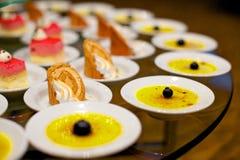 Panacota and cake dessert Stock Photos