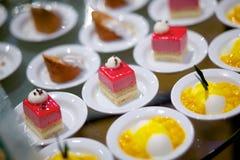 Panacota and cake dessert Stock Photo