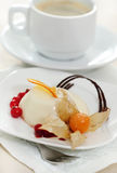 Panacotta. Classic italian dessert Royalty Free Stock Photo