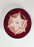 Panacotta Star-shaped com os biscoitos do de Reims das rosas Imagens de Stock