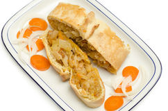 Panada filled with cabbage, beef and carrot Stock Image