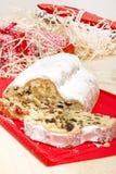 Panadería alemana tradicional: La Navidad de Dresden stollen Foto de archivo
