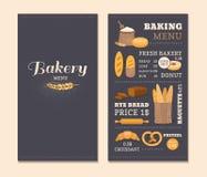 Panadería del café de la plantilla del menú Imagen de archivo libre de regalías