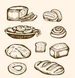 Panadería dibujada mano Imágenes de archivo libres de regalías