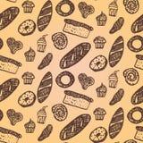 Panadería dibujada mano Fotografía de archivo