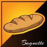 Panadería dos Tone Background con vector del Baguette Imagen de archivo libre de regalías