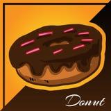 Panadería dos Tone Background con vector del buñuelo Imágenes de archivo libres de regalías