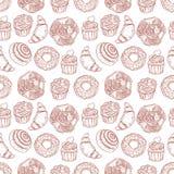 Panadería dulce inconsútil Fotografía de archivo