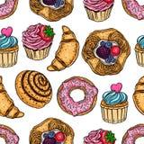 Panadería dulce inconsútil Fotos de archivo