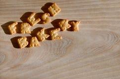 Panadería fresca Montón de letras comestibles Imagen de archivo libre de regalías
