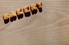 panadería Letras comestibles Fotografía de archivo libre de regalías