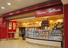 Panadería napolitana de la tienda de Bellavia Fotografía de archivo