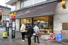 Panadería de Lagkagenhuset_chain Fotos de archivo libres de regalías