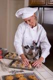 Panadero de la galleta Foto de archivo libre de regalías