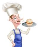 Panadero de la magdalena de la historieta Fotos de archivo