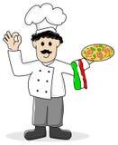 Panadero de la pizza Foto de archivo libre de regalías