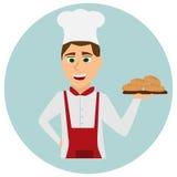 Panadero en uniforme Imagenes de archivo