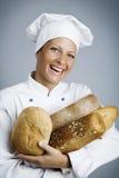 Panadero feliz Foto de archivo libre de regalías