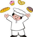 Panadero feliz stock de ilustración