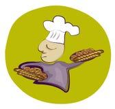 Panadero francés stock de ilustración