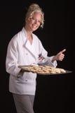 Panadero orgulloso con tratamiento por lotes Imagenes de archivo