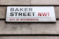 Panadero Street de Londres Foto de archivo libre de regalías
