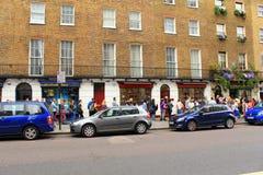 Panadero Street London del museo de Sherlock Holmes Fotos de archivo libres de regalías