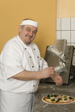 Panaderos de la pizza Fotografía de archivo libre de regalías