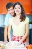 Panaderos felices Imagen de archivo
