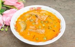 Panaeng咖喱是通常是更加温和的泰国咖喱的类型 免版税库存照片