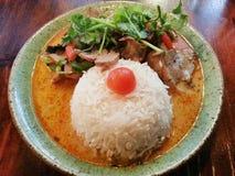 Panaeng, caril tailandês, alimento tailandês Fotografia de Stock Royalty Free