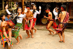 Panagbenga festiwal, Baguio miasto fotografia royalty free