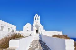 Panaghia Chrisopigi church Sifnos Greece stock photography