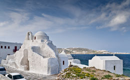 Panaghia Paraportiani church in Mykonos Royalty Free Stock Photography